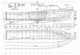 Lines plans of MV Nimble II